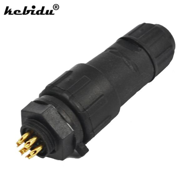 Computer & Office Fashion Style Kebidu New M14 7 Pin 7 Pole Industrial Ip68 Waterproof Connector Cable 7pin Panel Mount Wire Connector Adapter Plug For Led Lamp