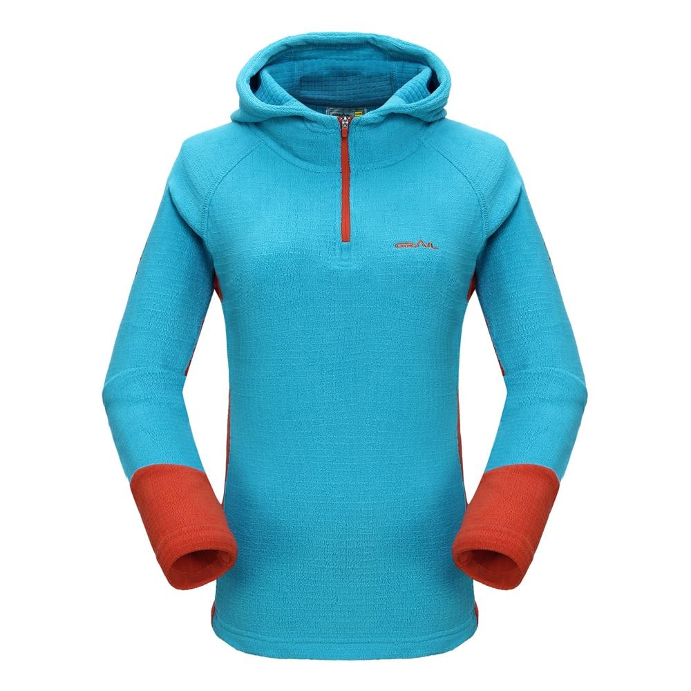 Grail New Women Outdoor Thermal Coat Windproof Hoodies Camping Hiking Fleece Jacket Running Long-sleeve Female Sweatshirt 7320A