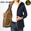 ZOOB MILEY Thickening Winter Jacket Men Fashion Warm Long Sleeve Outerwear Velvet Inside Wool Coats and Jackets Plus Size M-4XL