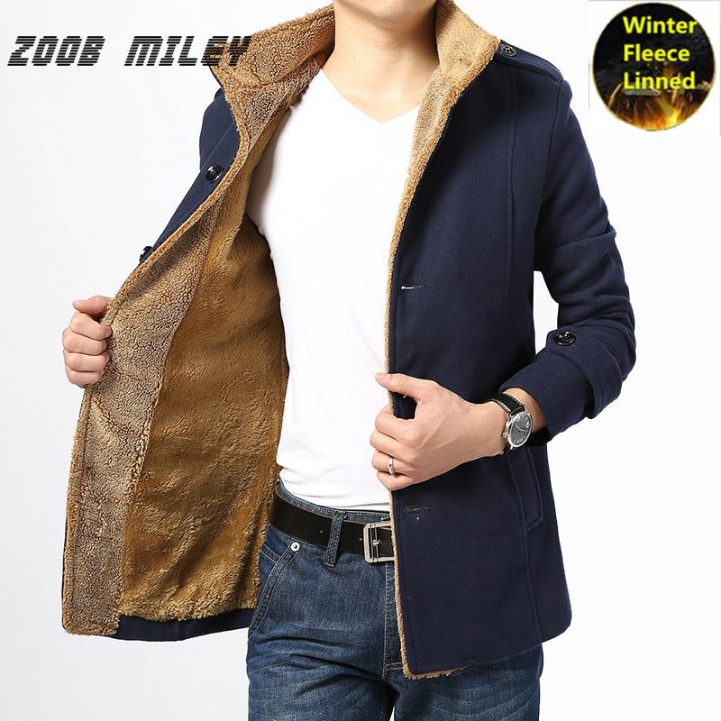 Zoob مايلي سماكة سترة الرجال أزياء الشتاء الدافئة طويلة الأكمام قميص المخملية داخل الصوف المعاطف و السترات زائد حجم 4xl-في جواكت من ملابس الرجال على  مجموعة 1