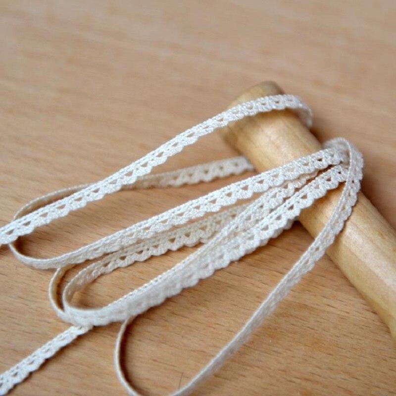 255b9cb0089 M0501 accesorios hechos a mano del cordón de DIY tela de algodón del cordón  del algodón del cordón onda ancho 0,5 cm