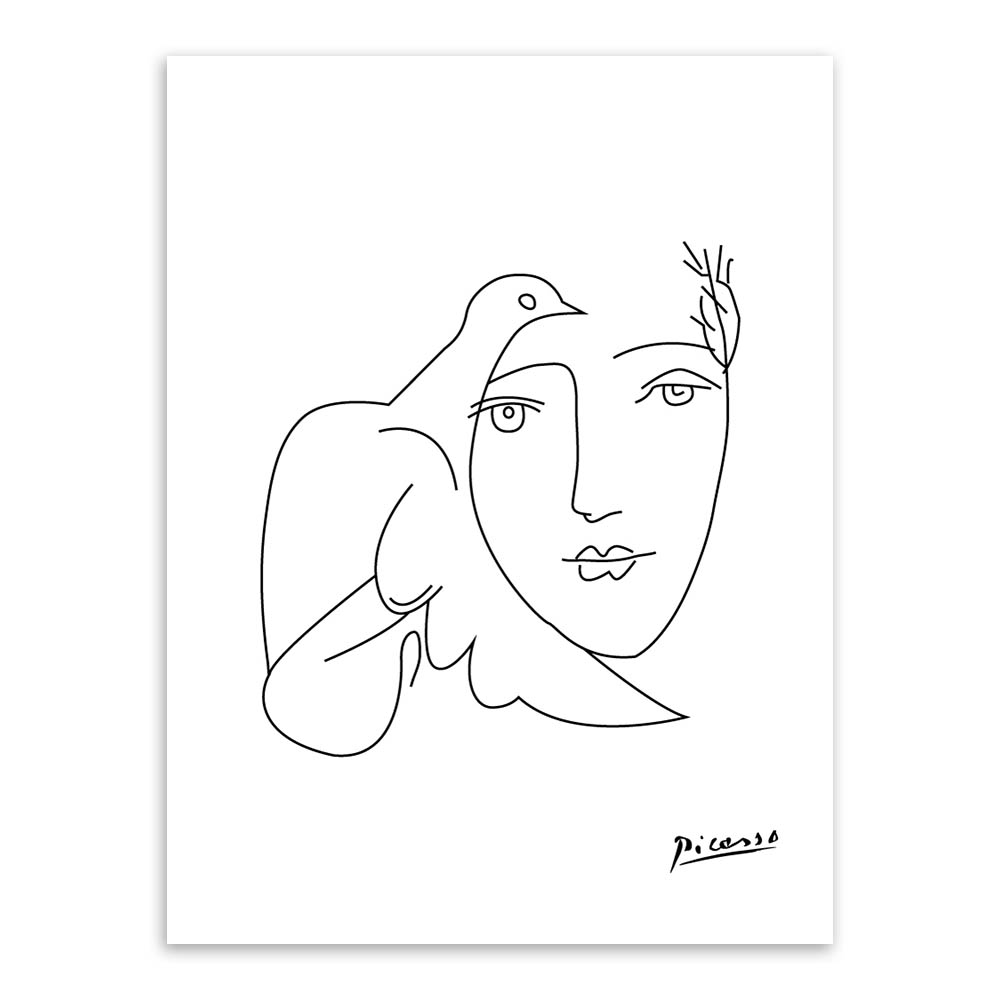 Abstract Face Line Drawing : Aliexpress buy modern picasso minimalist abstract