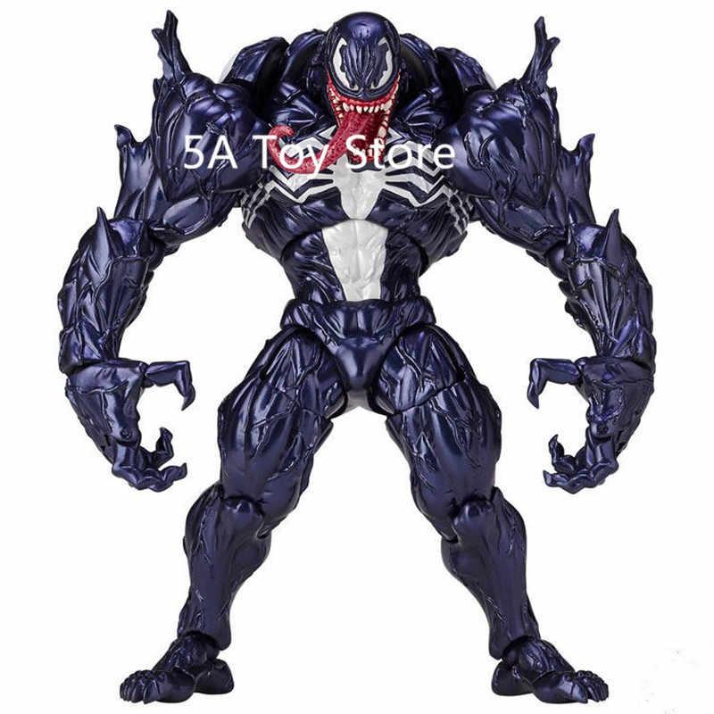 Inanılmaz Örümcek Adam Revoltech Serisi NO. 003 Venom Gelen Örümcek Adam PVC Action Figure Koleksiyon Model Oyuncak