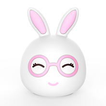 Lovely Rabbit Shaped Rechargeable Plastic LED Nightlight