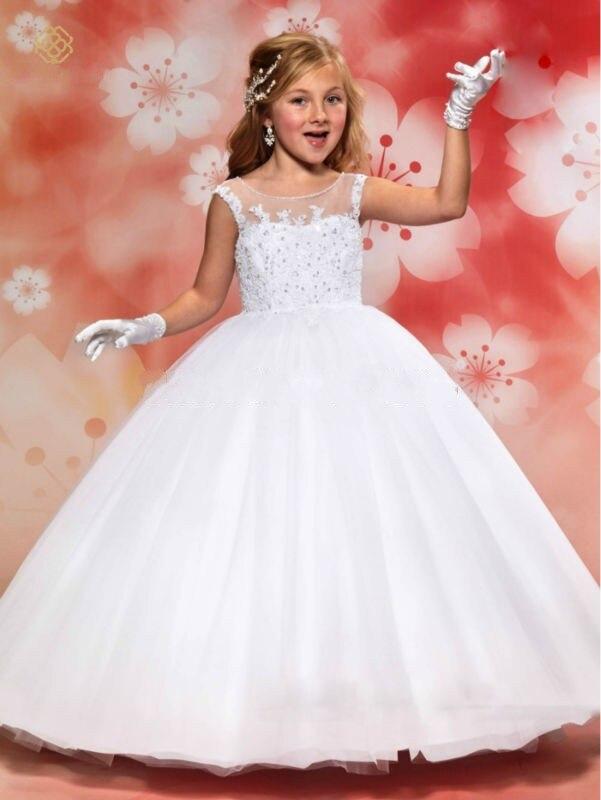 Encaje Blanco Vestidos De Niña Para Las Bodas 2016 Vestido