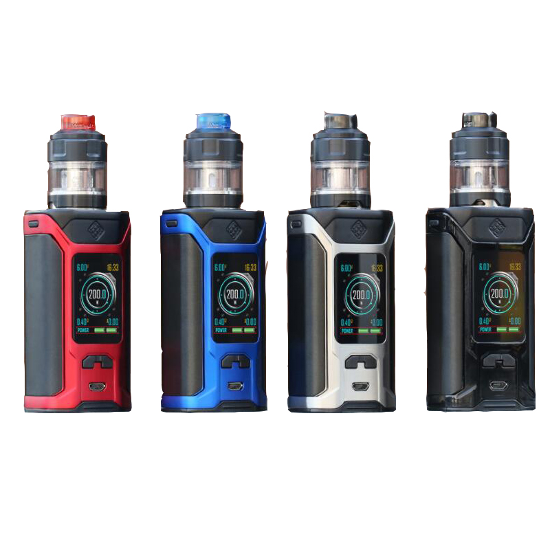 Original Wismec Sinuous Ravage230 Kit Ravage 230 Box Mod Vape 200W With Gnome Evo Atomizer 2ml4ml E Cigarettes Vaper to Vape