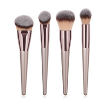 BBL 4pcs Luxury Champagne Gold Makeup Brushes Set Powder Foundation Blush Blending Liquid Cream Buffing Brush Cosmetic Tools Kit