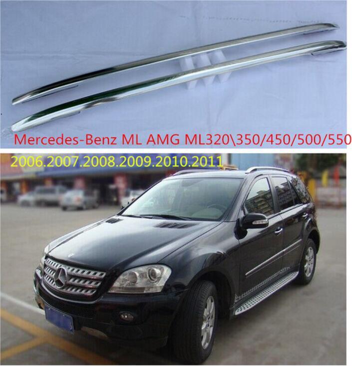De aluminio del coche techo equipaje bar para Benz ML ML320 \/350/450/500/550/2006, 2007, 2008, 2009, 2010, 2011 rápido gratis por EMS Modelo a escala de 5 uds material de construcción techos de láminas de PVC en tamaño 210x300mm para diseño de la arquitectura