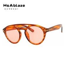 HsAblaze Eyewear Gafas de Sol Redondas Mujeres Hombres Estilo Espejo Oval Gafas de Sol Retro Mujer Hombre Gafas Gafas De Sol Mujer