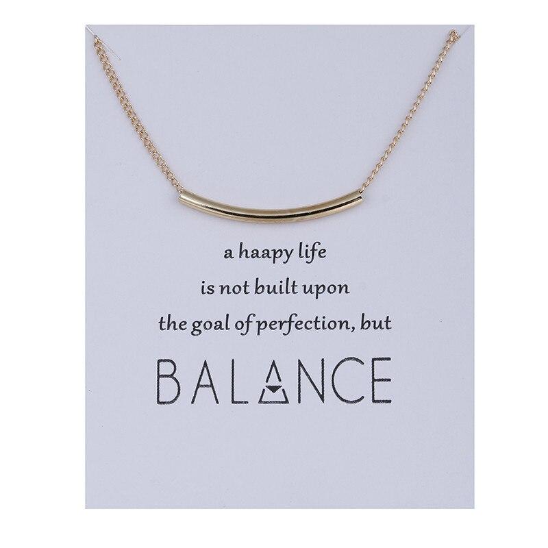 Модные украшения баланса трубки бар Цепочки и ожерелья