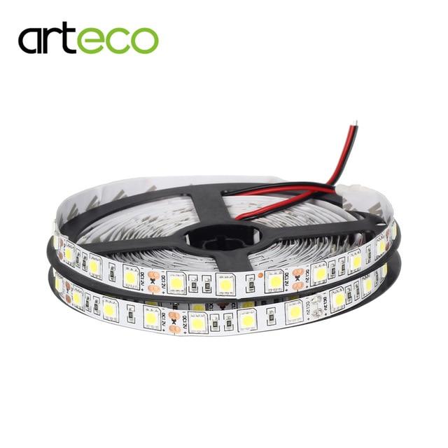 DC12V tira de luz LED 5050 60 LEDs/m 5 M tira de LED 5050 RGB blanco blanco cálido, rojo, verde. azul IP20/IP65 impermeable
