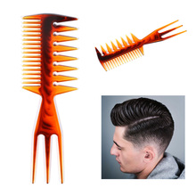Three sides Afro Comb Curly Hair Brush Salon Hairdressing Styling Long Tooth Styling Pick Styling Accessory Drop Shipping Amber