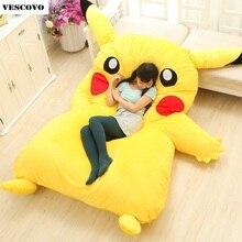 Спальный мешок Pikachu, мультяшный матрас, подушка для дивана, подушка для двухспальной кровати, плюшевая татами подушка из пены с эффектом памяти