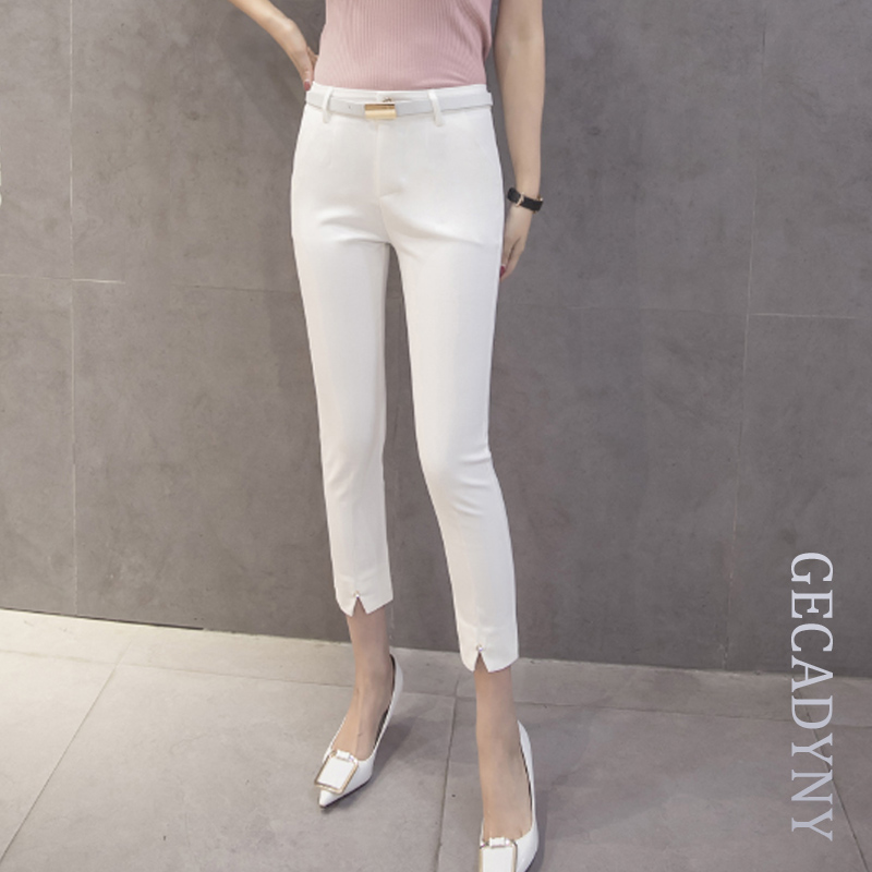 Women Pants Capris Spring Summer Loose Casual Capris Pants Ladies Fashionable Straight Capris Women Trousers XS-2XL