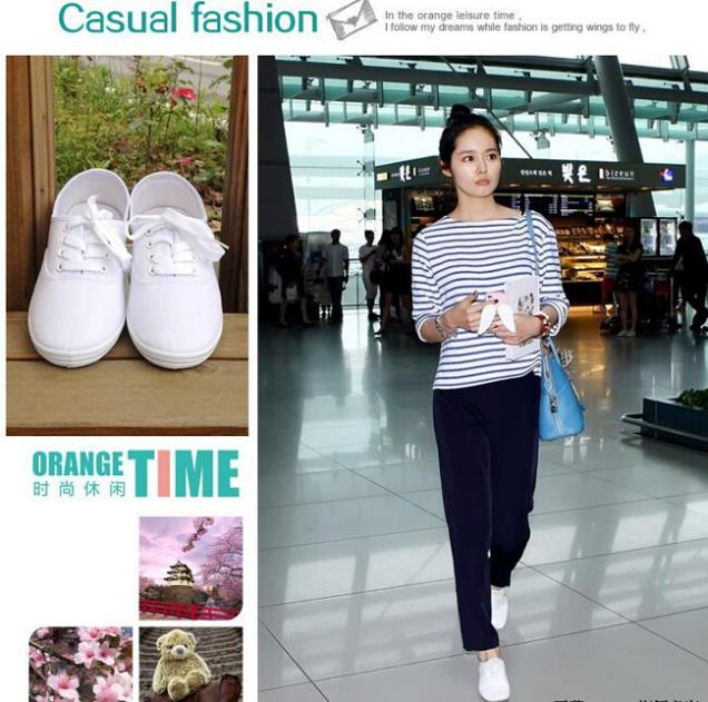 New Summer Canvas Redblue Women Sneakers Shoes Breathable Fashion Floral Rural Style Women Flat #1102Noah