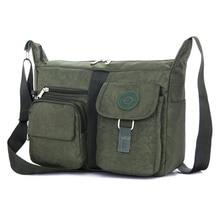 المرأة حقيبة ساع النايلون الإناث حقيبة كتف حقائب كروسبودي حقائب يد على الموضة للسيدات حمل كيس المدرسة الرئيسي