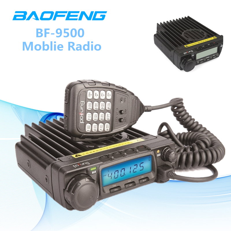 Haute Puissance Baofeng Radio Voiture Talkie Walkie BF-9500 Voiture Radio 50 w VHF 400-470 mhz 200CH Voiture Véhicule talkie Walkie 70 km Parler Gamme