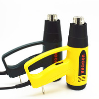 220V 2000W EU Plug Industrial Electric LCD Display Hot Air Gun Heat Guns With 4pcs Thermal