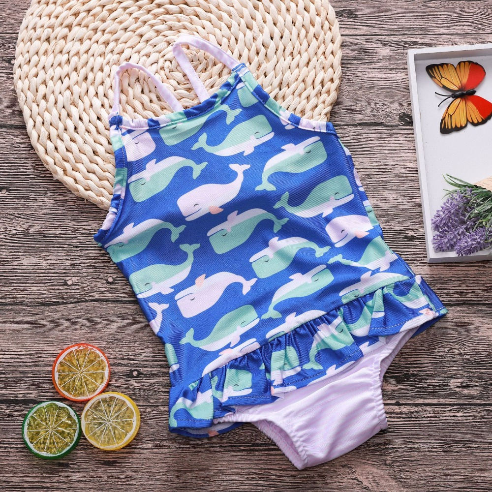 2018 Kids Floral Summer Romper Infant Toddler Bathing Suit Baby Girl Onesie Birthday Outfit Girl Clothes 2 Years Summer Outfits