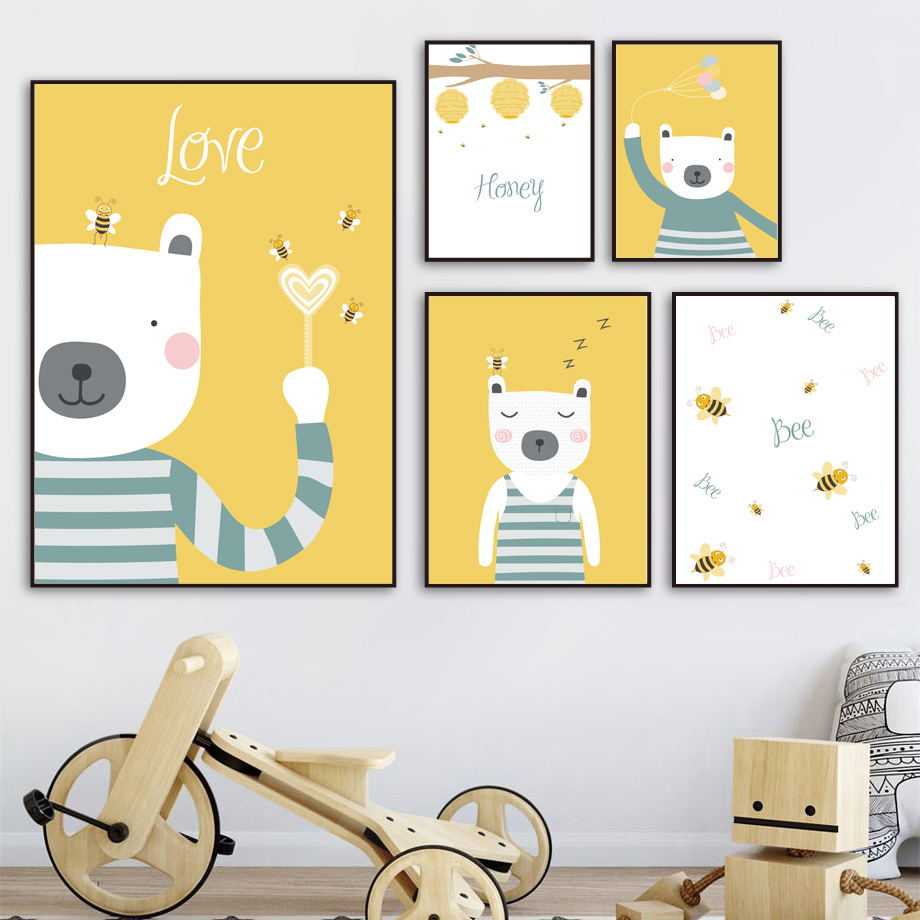 Buy bee wall art and get free shipping on AliExpress.com
