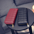 2016 New Luxury Brand Designer Women Wallets Lady Embossed Leather Wallet Female Solid Clutch Zipper Purses Feminia Slim Wallet