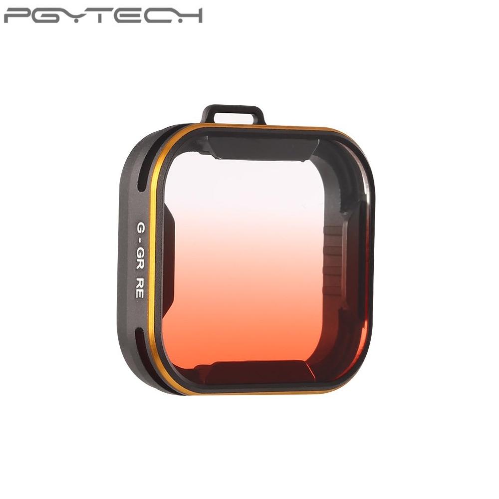 PGYTECH Gradual Change red Lens Filter for Gopro Hero 5 Camera