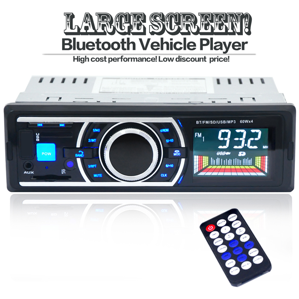 1 * Car Stereo Audio MP3 Player 1 * Cable 1 * Remote Conrtol 1 * English User  Manual
