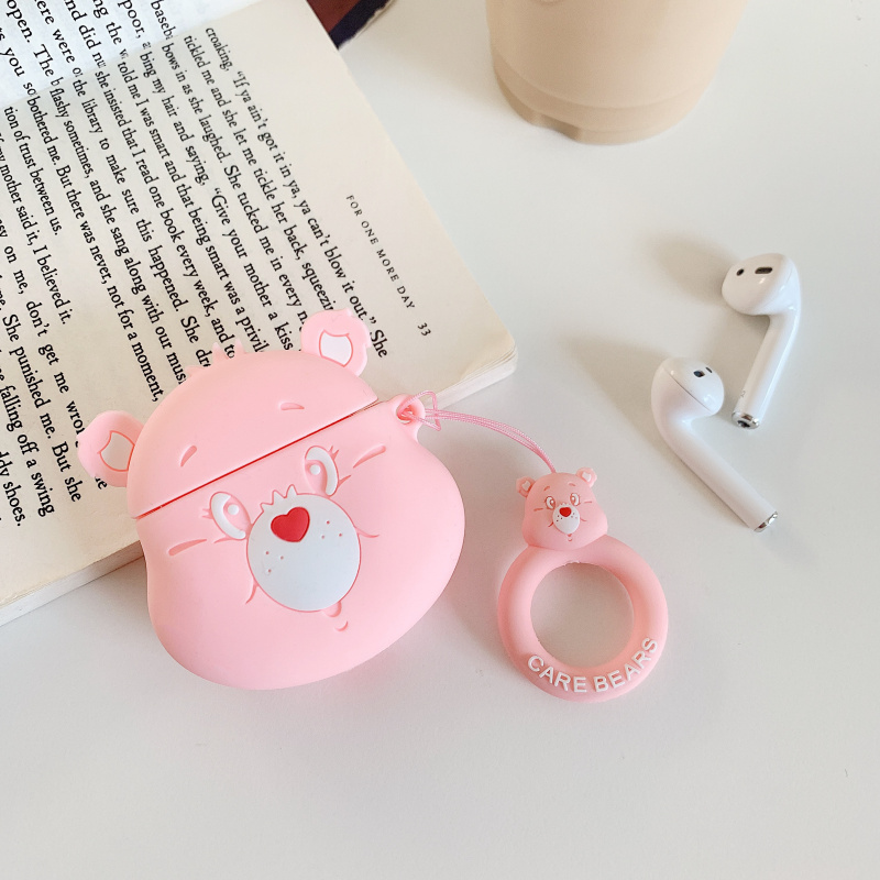 Image 5 - Cartoon cute rainbow bear 3D Headphone protective shell for airpods 2 case for Apple Bluetooth headset cover Protect the box-in Earphone Accessories from Consumer Electronics