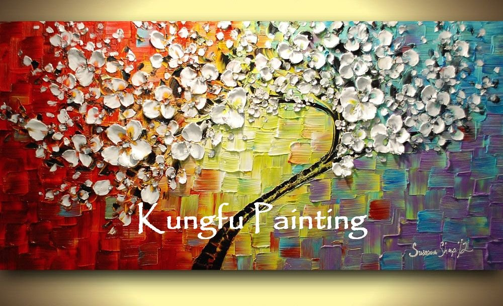 100% hand paint modern oil painting palette knife textured oil painting on canvas wall art TXT023-in Painting u0026 Calligraphy from Home u0026 Garden on ...  sc 1 st  AliExpress.com & 100% hand paint modern oil painting palette knife textured oil ...