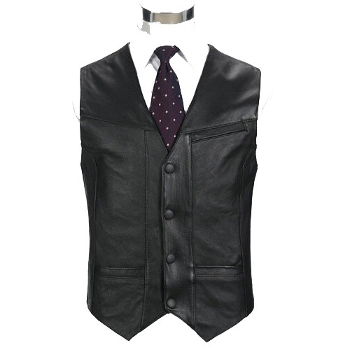 Black Genuine Leather Vest 2019 New Middle-aged Male Sheepskin Multi-pockets Single Breasted Photography Vests Biker Jacket