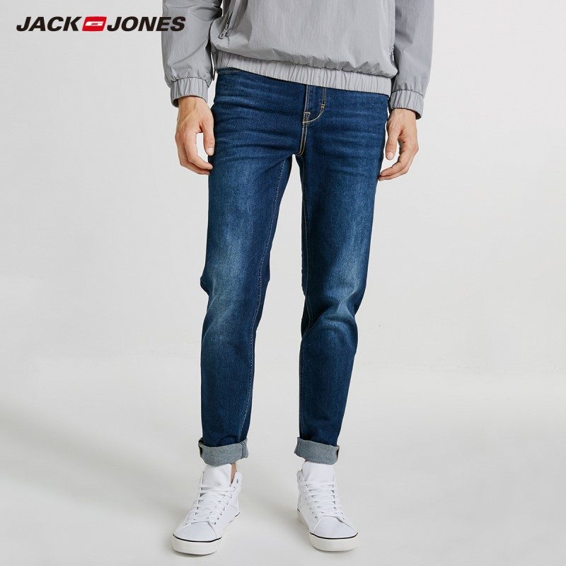 JackJones Men's Stretch Cotton Casual   Jeans   Designer Trousers Casual skinny Straight Elasticity pants J|218332546
