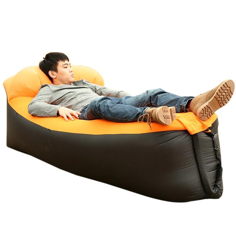 Inflatable Air Sofa Camping Portable Sofa Lounger Beach Bed Lay layBag Air Bag 250*70cm Comfortable Bag Camping Mat     - title=