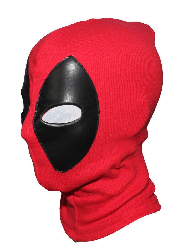 Novos Quadrinhos Deadpool Máscara Cosplay Traje Vermelho Lycra