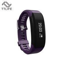 2016 TTLIFE бренд смарт-браслет монитор сердечного ритма браслет Наручные Шагомер Bluetooth Smart Band Водонепроницаемый IPX5 Смарт-часы