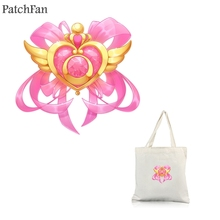 Patchfan Sailor moon DIY heat press stickers iron on patches Handmade clothes jacket t shirt thermal transfer