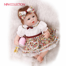 NPKCOLLECTION17inch reborn lovely premie baby doll New born realistic cute doll playing toys for kids Birthday Christmas Gift(China)
