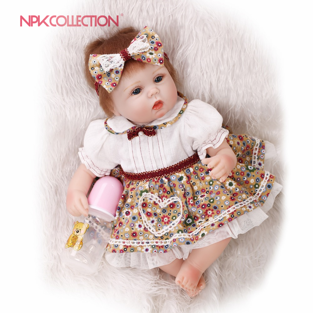 NPKCOLLECTION17inch reborn lovely premie baby doll New born realistic cute doll playing toys for kids Birthday Christmas GiftNPKCOLLECTION17inch reborn lovely premie baby doll New born realistic cute doll playing toys for kids Birthday Christmas Gift
