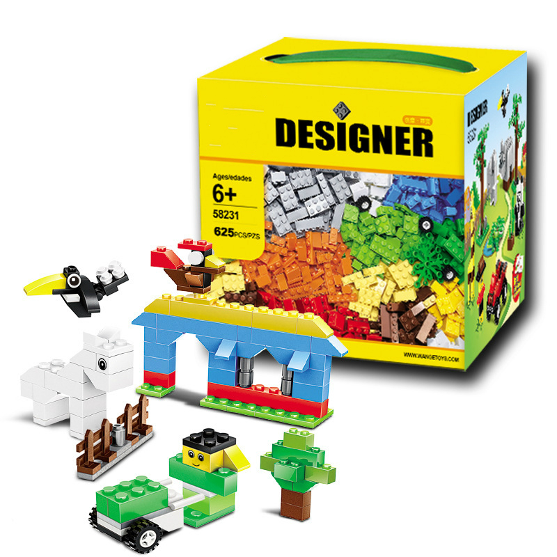 625 Pcs/set DIY Building Blocks Toys Creative Bricks for Children Early Learning Assembly Toys Gift Compatible with Legoings 81pcs set children plastic building blocks toy bricks diy assembling classic toys early educational learning toys gift for kids