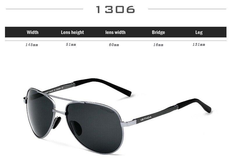 VEITHDIA Men's Polarized Sunglasses 11