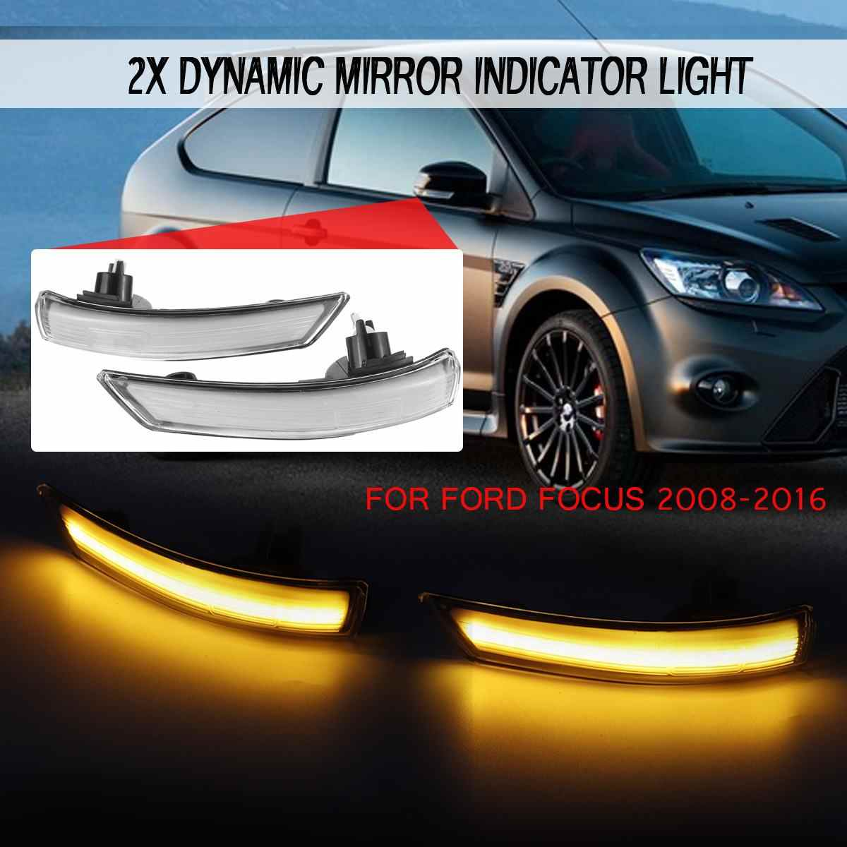 Dynamic Turn Signal Led Side Wing Rearview Mirror Indicator Flowing Led Blinker Repeater Light for Ford Focus mk2 3 for Mondeo 4