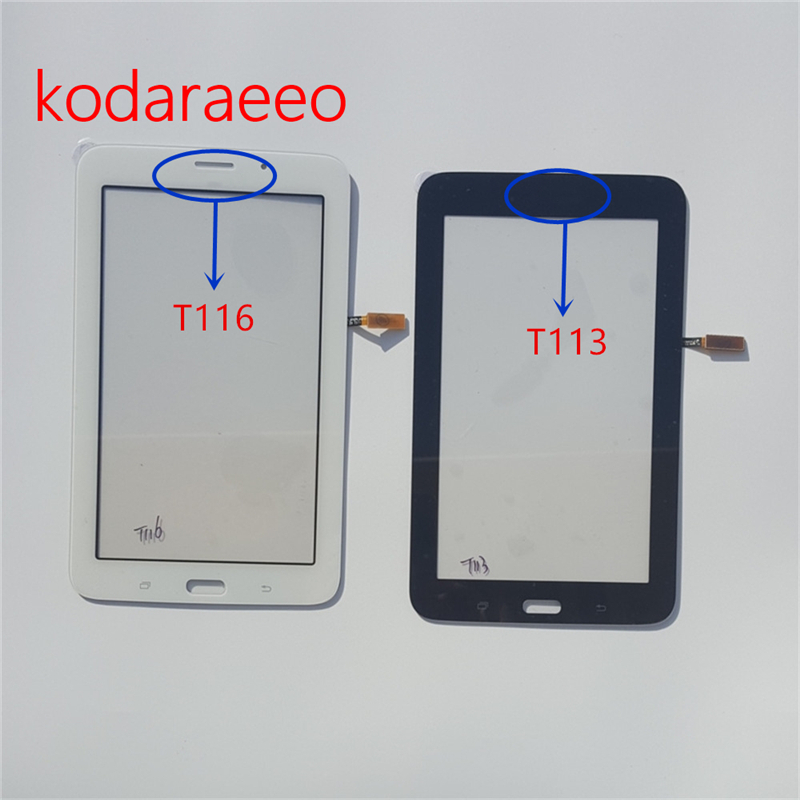 Kodaraeeo T116 T113 touch panel replacement for Samsung Galaxy Tab 3 Lite SM T113 T116 Touch Screen Digitizer Glass Lens