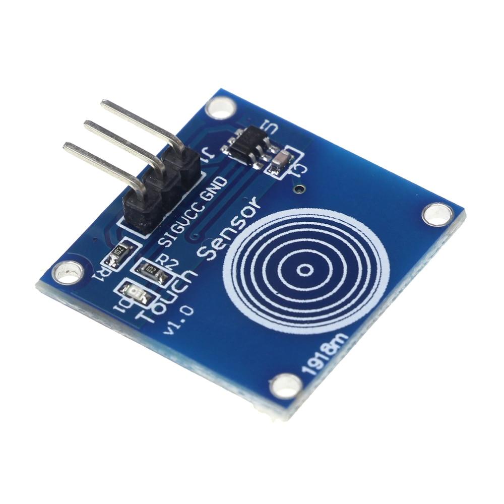 TTP223B 1 канал Jog цифровой сенсорный Сенсор емкостный сенсорный выключатель модули аксессуары для arduino DIY KIT ...