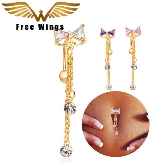 Steel Bow Reverse Navel Belly Button Rings Body Piercing Jewelry Pin Jewellery