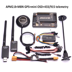 APM2.8 APM 2.8 Controllore di Volo M8N 8N GPS Bussola con il Potere Moudle Mini OSD/915 Mhz/433 Mhz 100 mw Telemetria Kit