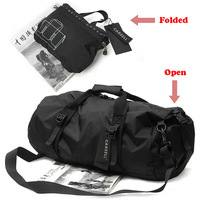 Smalotus Men Nylon Cylindrical Gym Sports Bags Women Oxford Portable Single Shoulder Barrel Fitness Bag Handbag