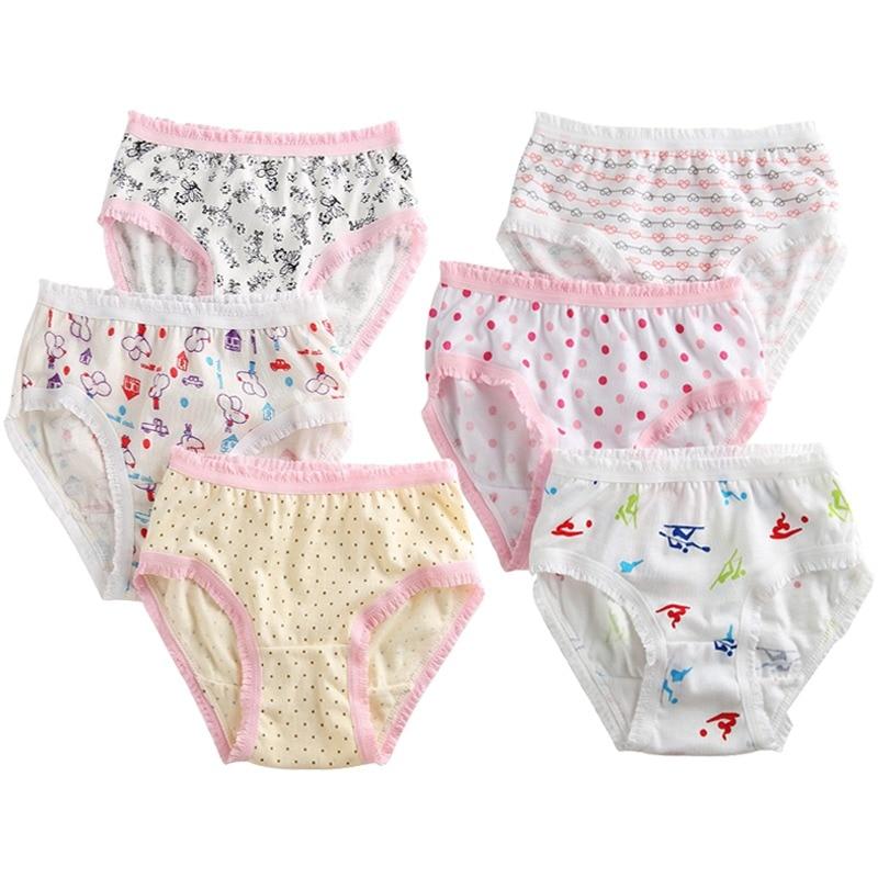 6Pcs/Lot Cotton Baby Girls Briefs Teenage Panties for Girls Kids Briefs Shorts Girls Underwear Children Underpants Clothes