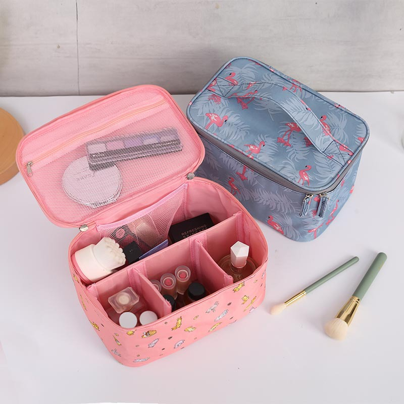 Hot Sale New Women Travel Cosmetic Bag Nylon Multifunction Makeup Bags Waterproof Portable Toiletries Organizer Make Up Cases(China)