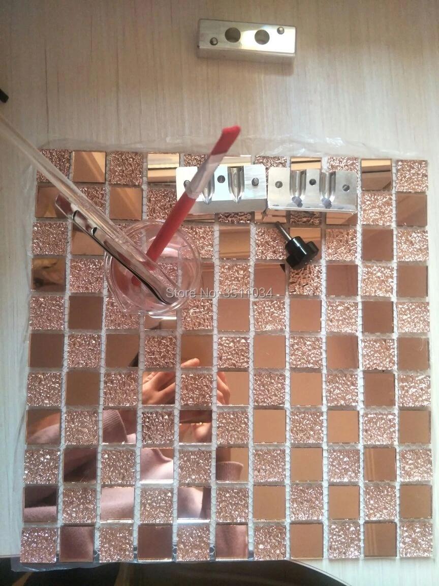 1box 11 pieces pink color glass tile mosaic kitchen backsplash mardi gras carnival 12 x12 sheet glass mosaic tile backsplash