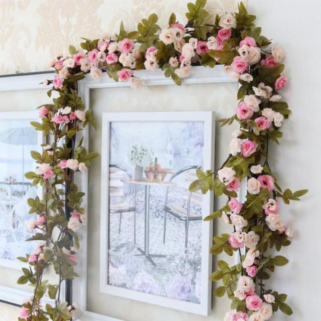 Shabby Chic Rosa Rose Girlande Blume Vintage Stil Hochzeit Schmücken ...