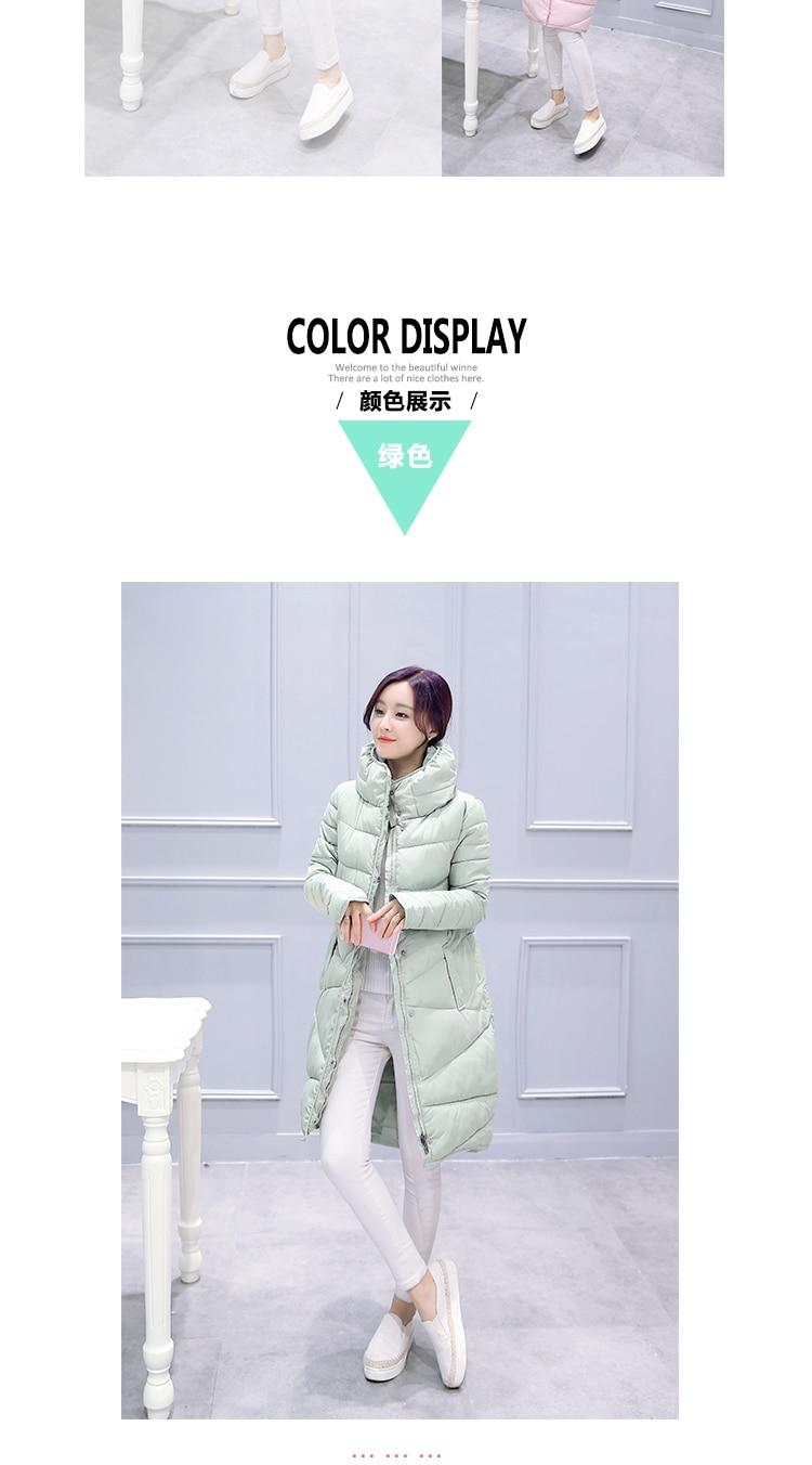Down Jackets Men's Clothing Responsible Ailooge Autumn And Winter Down Jacket Women Parkas 2017 Korean Short Zipper Slim Fashion Women Black White Pink Color